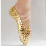 Leatherette Fabric Flats Ballet Dance Shoes (053018646)