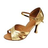 Women's Sparkling Glitter Patent Leather Heels Sandals Latin Wedding Party Dance Shoes