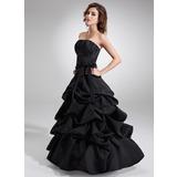Duchesse-Linie Trägerlos Bodenlang Satin Quinceañera Kleid (Kleid für die Geburtstagsfeier) mit Rüschen Schleife(n)