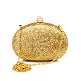 Gorgeous Stainless Steel With Sequins Evening Bag Handbag Purse Clutch (012016230)