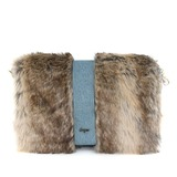 Fashional Fabric With Feather/Fur Clutches/Fashion Handbags