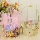 Korb Geschenkboxen/Kuchen-Kästen mit Bänder (Set von 2)