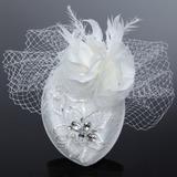 Glamourous Artificial Silk/Net Yarn Fascinators With Rhinestone/Venetian Pearl