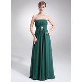 Empire Strapless Floor-Length Chiffon Mother of the Bride Dress With Ruffle Beading (008016251)