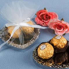 Classic Heart-shaped Favor Boxes With Ribbons (Set of 12)
