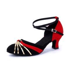 De mujer Cuero Nubuck Tacones Salón Moderno con Tira de tobillo Zapatos de danza