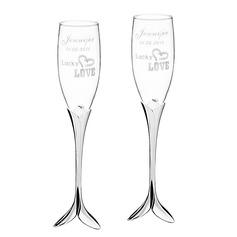 Personalizado Diseño del amor Vidrio/de aluminio (Juego de 2)