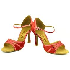 De mujer Ante Tacones Sandalias Danza latina Salsa Fiesta con Tira de tobillo Agujereado Zapatos de danza
