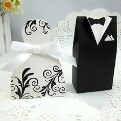 Cherish Bride & Groom Style Favor Box (Set of 6 Pairs) (050005793)