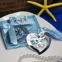 Butterfly & Heart Stainless Steel Bookmark Favor (051013606)