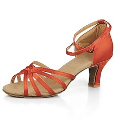 Women's Satin Sandals Latin Ballroom Dance Shoes
