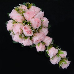 Fascinating Cascade Satin Bridesmaid Bouquets