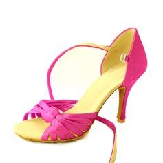 De mujer Satén Tacones Salón Danza latina con Tira de tobillo Zapatos de danza