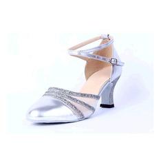 Donna Similpelle Sandalo Latino con Cava-out Scarpe da ballo