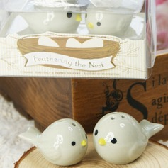 Ceramic Bird's Nest Salt & Pepper Shakers Wedding Favor (Set of 2) (051005573)