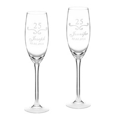 """Personlig """"Anniversary"""" Glass Skåle Glass Sett (Sett med 2)"""