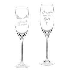 Personlig Elegant Glass Skåle Glass Sett (Sett med 2)