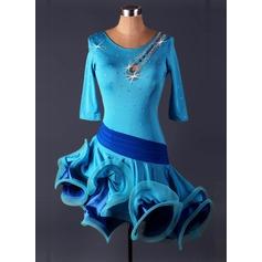 Mulheres Roupa de Dança Spandex do Dança Latina Malha