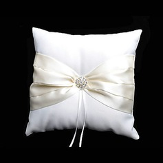 Ring Pillow In Ivory Satin With Rhinestones And Sash(103018255)