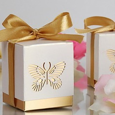 Laser-cut vlinder gunst box (set van 12) (050013596)