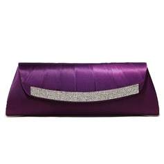 Purple Gorgeous Silk Shell With Austrian Rhinestones Evening Handbags/ Clutches More Colors Available (012005437)
