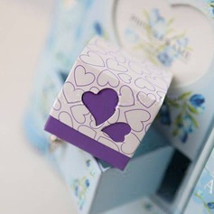 Square Favor Box With Heart Cutouts (Set of 12) (050013078)