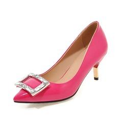 Donna Similpelle Tacchi a cono Stiletto Punta chiusa con Strass scarpe