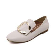 Женщины кожа Низкий каблук На плокой подошве Закрытый мыс обувь