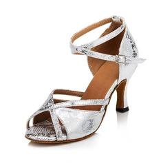 De mujer Satén Tacones Sandalias Salón Danza latina con Tira de tobillo Zapatos de danza
