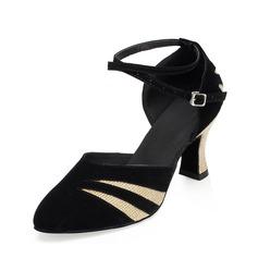 De mujer Brillo Chispeante ante Tacones Salón Moderno con Tira de tobillo Zapatos de danza