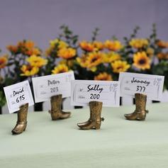 Estilo Vindima Design de sapatos Resina Titulares do cartão do lugar (Conjunto de 4)