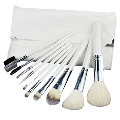 10 Pcs Makeup Brush Set With White Pouch