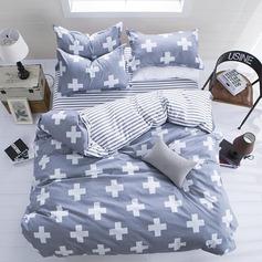 Modern/Contemporary Cotton Comforters (4pcs :1 Duvet Cover 1 Flat Sheet 2 Shams)