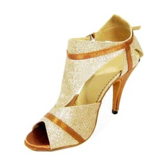 Sparkling Glitter Heels Sandals Latin Ballroom Dance Shoes (053012236)