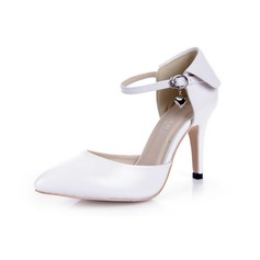 Patent Leather Stiletto Heel Pumps Closed Toe met Buckle schoenen