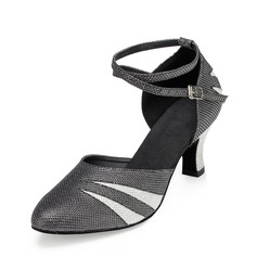 De mujer Cuero Tacones Salón Moderno con Tira de tobillo Zapatos de danza