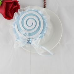 Lollipop Design Polyester Wedding Cake Topper (Set of 4)