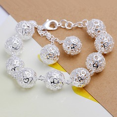 Красивая посеребренный женские Модные браслеты