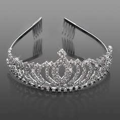 Splendido strass da sposa tiara / fascia / copricapo (042015966)
