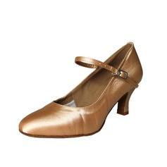 Women's Satin Heels Pumps Modern With Buckle Dance Shoes