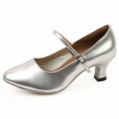 Leatherette Heels Pumps Modern Ballroom Dance Shoes (053011473)