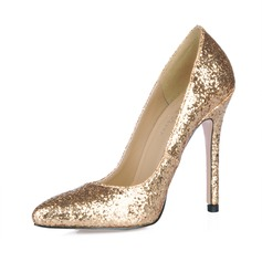 Sparkling Glitter Stiletto Heel Closed Toe Pumps Wedding Shoes With Sequin (047016469)