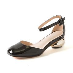 Donna Vera pelle Tacco basso Stiletto Punta chiusa scarpe