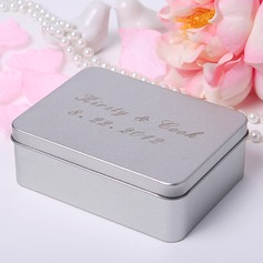 Personalized Name And Date Metal Jewelry Holders/Favor Tin (Set of 24)