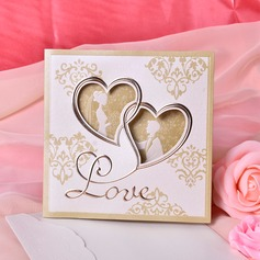 Heart Style Tri-Fold Invitation Cards (Set of 50)