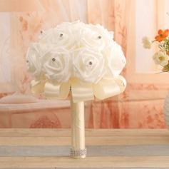 Round Satin/PE Bridal Bouquets