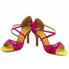 De mujer Tacones Sandalias Danza latina Salsa Fiesta con Tira de tobillo Zapatos de danza