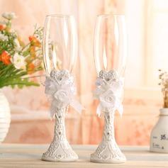 Vakkert Skåle Glass Sett med Blomster