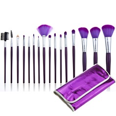 Trendy Purple Makeup Brushes (16 Pcs)	 (046024403)