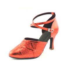 De mujer Cuero Tacones Danza latina Moderno con Tira de tobillo Zapatos de danza